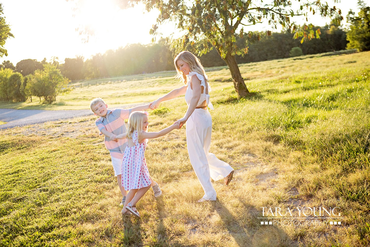 Sunset Family Portrait Session Louisville KY